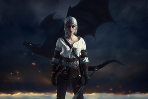 Ciri With Dragon