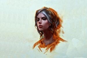 Cirilla Fiona Elen Riannon Painting