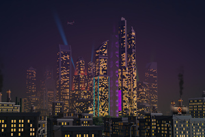 City Buildings Retrowave 4k