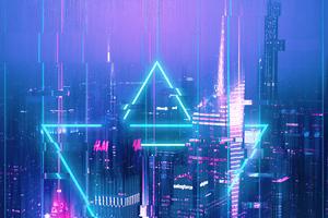 City Glitch 4k Wallpaper