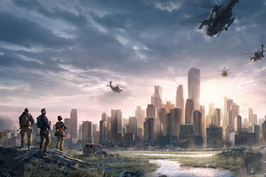 City In Danger 4k