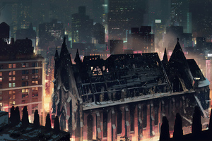 City In Winter Wallpaper