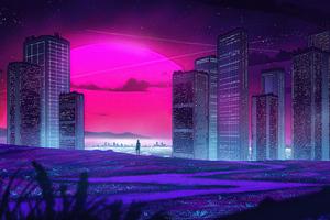 City Synthview 5k Wallpaper