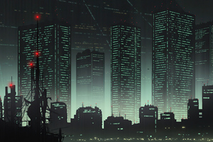Cityscape 80s Anime 4k Wallpaper
