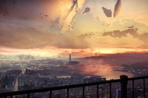 Cityscape Digital Art 4k