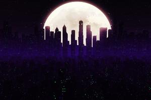 Cityscape Skyline Minimalist Art 4k