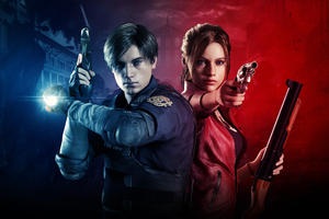 Claire Redfield And Leon Resident Evil 2 8k