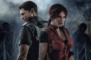 Claire Redfield And Leon Resident Evil
