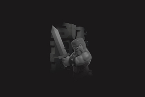 Clash Of Clans Barbarian 4k Wallpaper