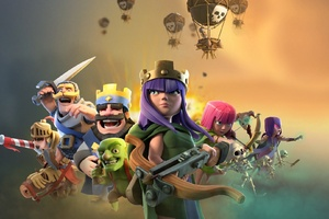 Clash Of Clans Clash Royale Supercell Games Wallpaper