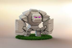 Clash Of Clans Golem 3d Wallpaper