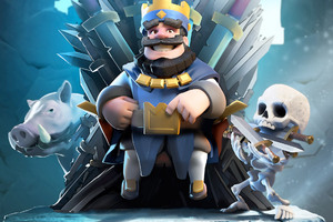 Clash Royale Blue King HD