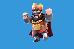 Clash Royale Red King Wallpaper