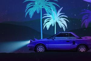 Classic Car Away From Retro City 4k