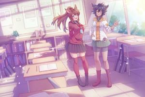 Classroom Anime 4k Wallpaper