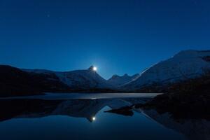 Clear Sky Night Landscape 4k Wallpaper