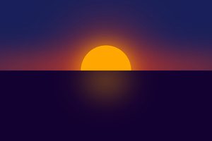 Clear Sunset Minimal 4k