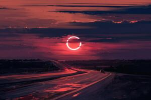 Cloud Eclipse Evening Moon