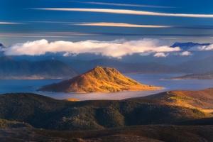 Cloud Island Lake Landscape Nature