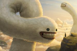 Cloud Worms 4k