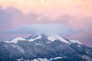 Clouds Mountains Peaks 5k