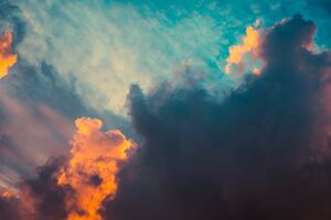 Clouds Orange Dark Sigma Style Sunrsie 5k