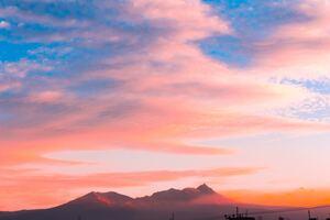 Clouds Over Volcano 4k