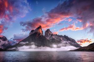 Clouds Rock Mountains Landscape 4k Wallpaper