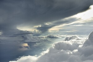 Clouds Sea Sky Sunlight Photography 5k Wallpaper