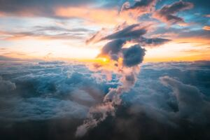 Clouds Sunrises Mount Fuji Wallpaper