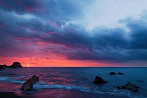 Cloudscape Dramatic Sky Coast 4k