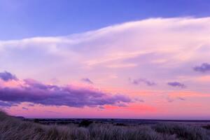 Cloudy Sky Evening Sky 4k