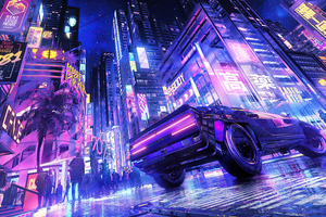 Club 707 Cyberpunk City 5k Wallpaper