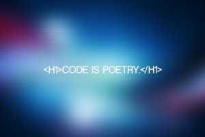 Code is Poetry Wallpaper