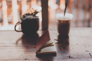 Coffee Cup Drink Notebook Table Wallpaper
