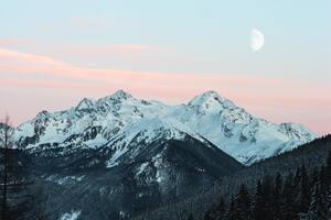Cold Daylight Mountains Landscape 4k