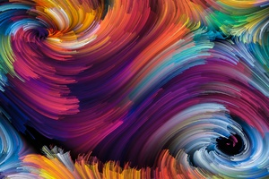 Color Abstract Brackdrops Spiral 4k