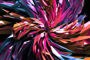 Colorful 3d Render Abstract 4k Wallpaper
