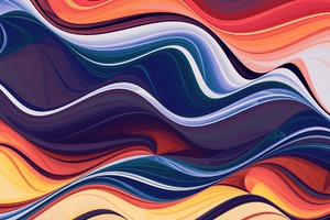 Colorful Abstraction Waves 4k