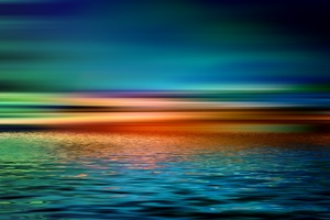 Colorful Artistic Sunset over Water Wallpaper