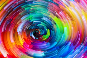 Colorful Circle Texture Abstract Wallpaper