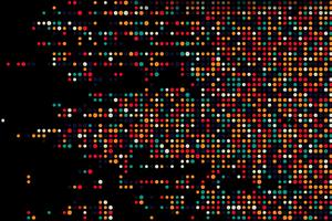 Colorful Dots Dark Abstract 5k Wallpaper