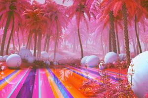 Colorful Dreamy Park