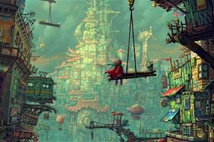 Colorful Fantasy City