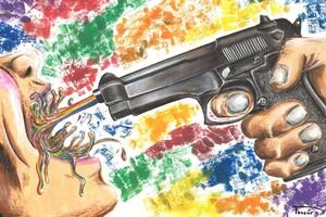 Colorful Gun Digital Art
