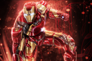 Colorful Iron Man Art Wallpaper