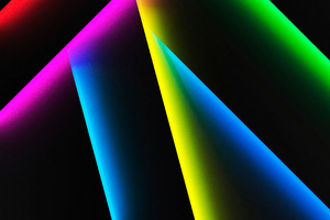 Colorful Lines Shapes Shadow 4k Wallpaper