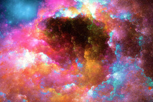 Colorful Nebula Digital Art 5k