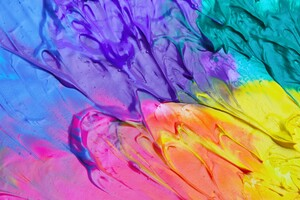 Colorful Paint Splash Abstract 4k