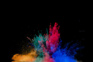 Colorful Powder Explosion Wallpaper